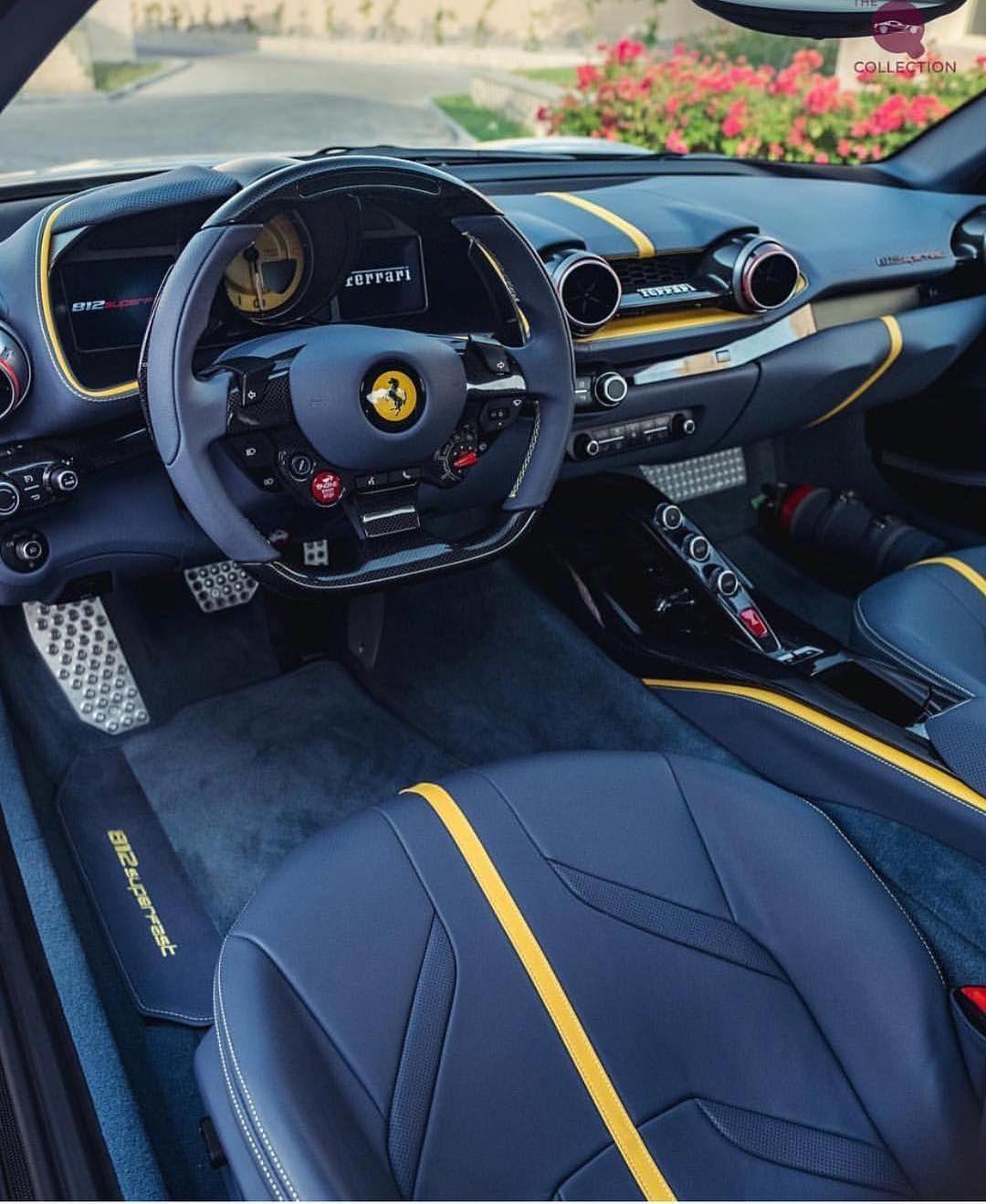 Ferrari 812 Superfast İnterior Coches Deportivos De Lujo Interior De Autos Asientos De Coche