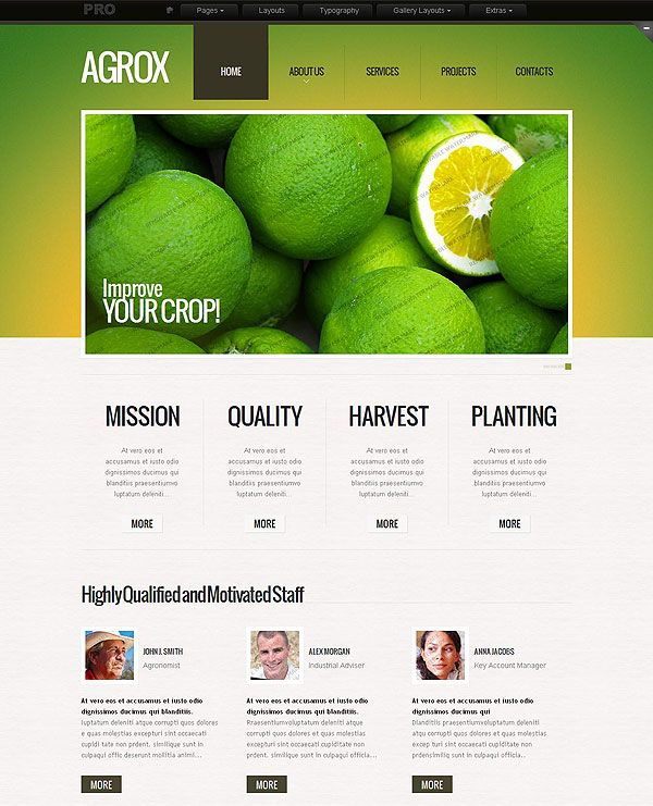 Farming and Agriculture Web Template | An outstanding set of ...