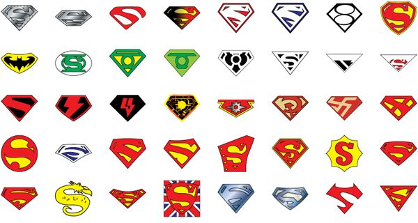 72 Years Of Superman Logos Free Logo Logo Template Superman With