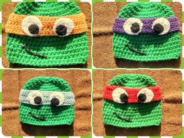 Free Pattern By Bits Bobbles Teenage Mutant Ninja Turtles Hat