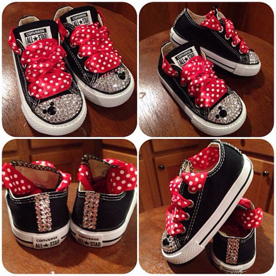 10160a2cc0680b Minnie Mouse Bling Converse by Munchkenzz on Etsy
