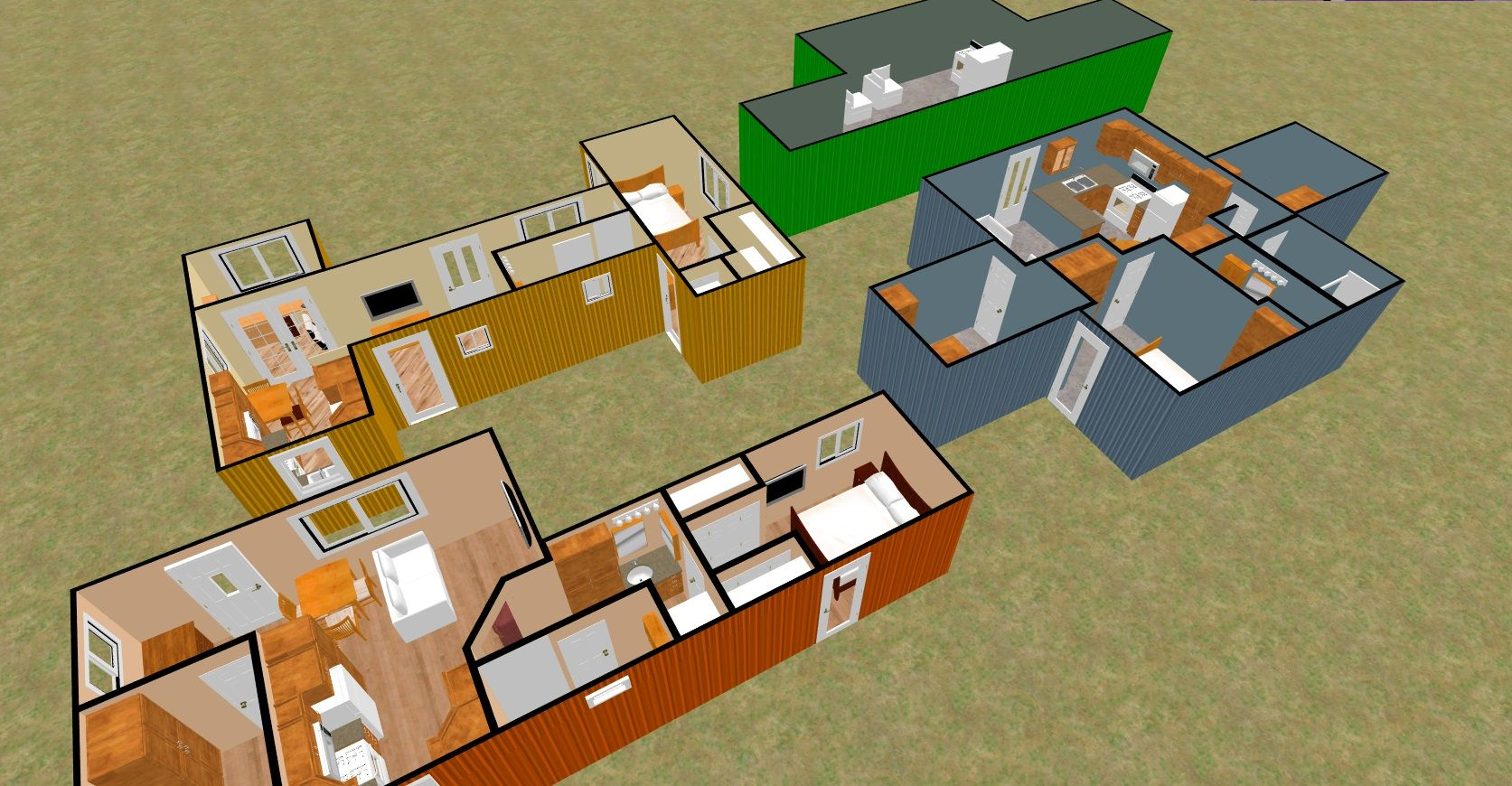 Cargo Container Homes Interiors . 480 Sq Ft Shipping