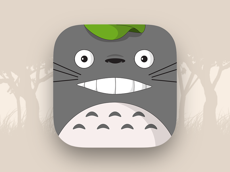 Totoro Ios 7 Icon By Alex Araujo Ios 7 Icons Icon Design Totoro