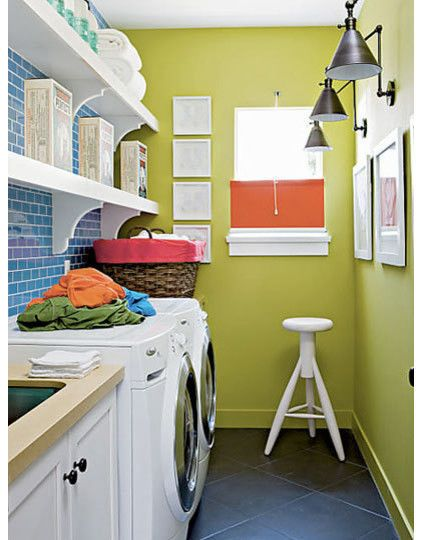 Laundry Ideas, Love The Basket Storage Idea In The Room, Window In Room,