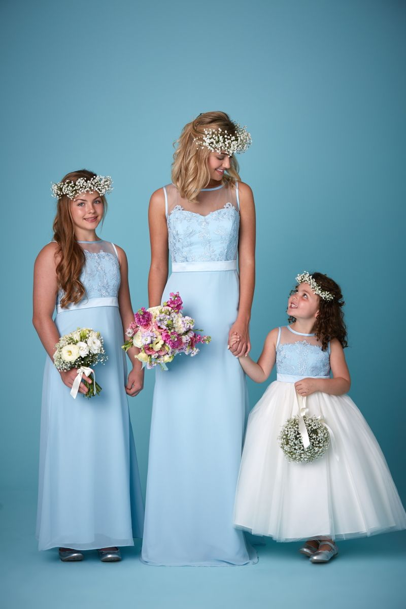 Similar idea to the bridesmaids - junior bridesmaids and flower girl ...