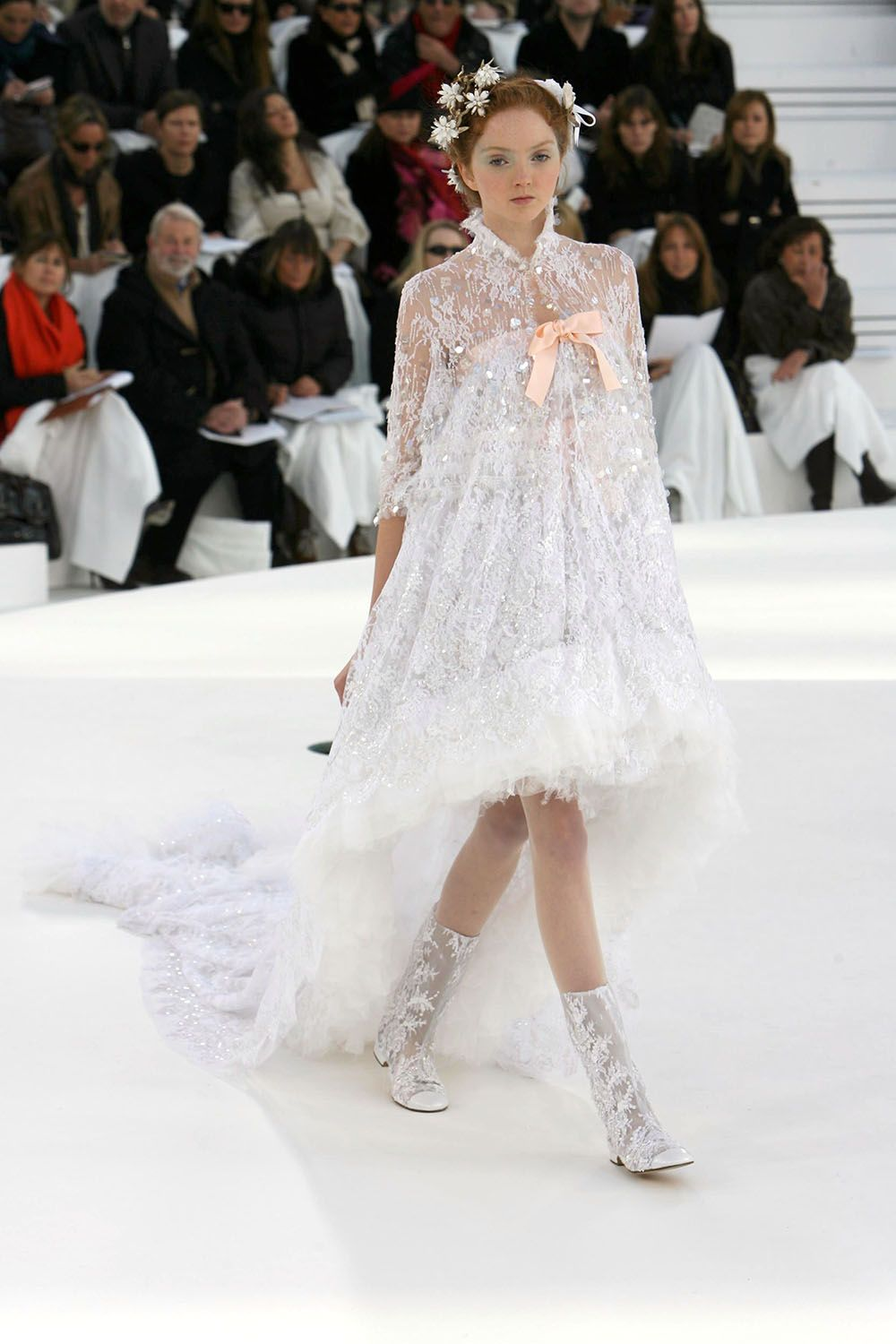 chanel wedding dresses cole in chanel bridal gown high low 2556