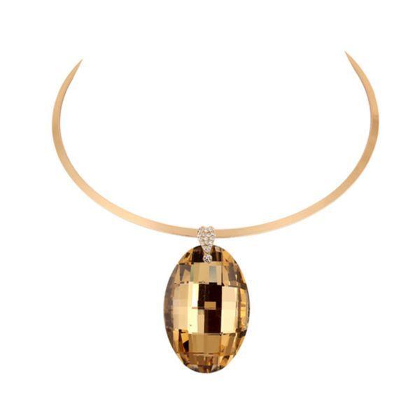 Alba - 5 Color Variants #Rhinestone #DropCrystal #GoldCollar #Choker #Statement #Necklace #LaMiaCara