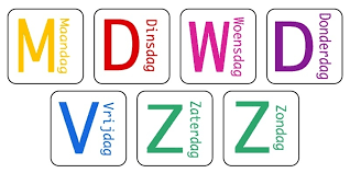 Goede Afbeeldingsresultaat voor dagen van de week kleuren   Pictogrammen ZH-54