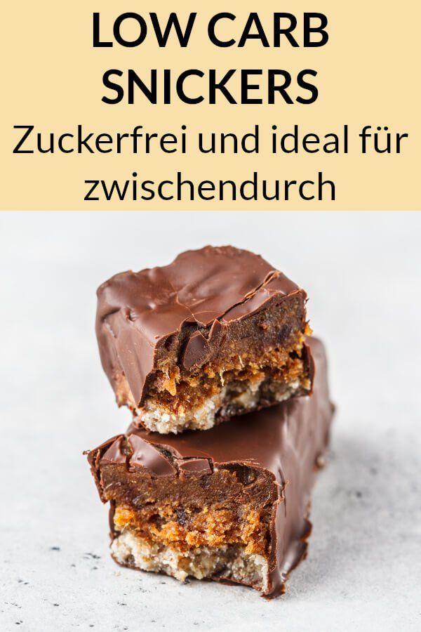 Diese Low Carb Snickers sind ein idealer Snack zum Abnehmen. Hier findest du das…