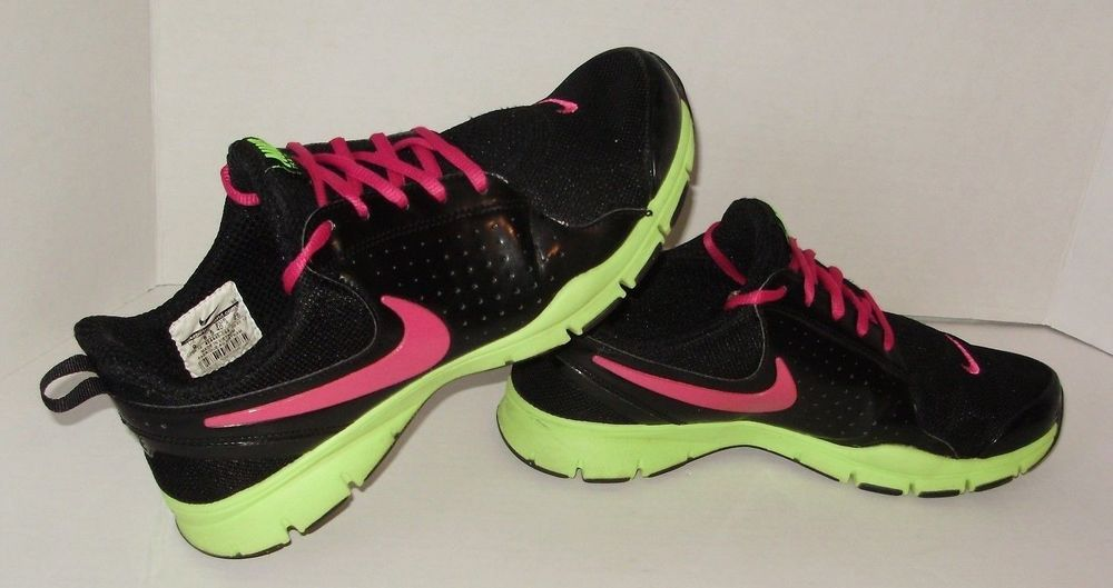 Nike Womens Sneakers Shoes Size 9 Black Pink Green Memory