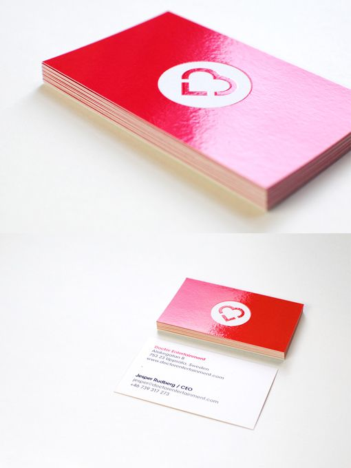 Doctor Entertainment Design  Red Business Card For Swedish Gaming