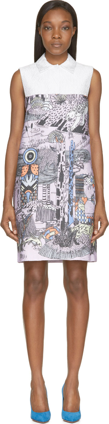 Mary Katrantzou - Lavender Forest Taby Dress