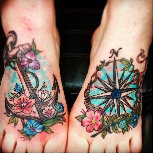 101 Tatuajes Femeninos De Anclas Con Significado Tatoo Foot