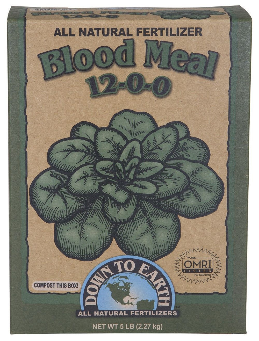 Down To Earth Blood Meal 12-0-0, 5 Pounds