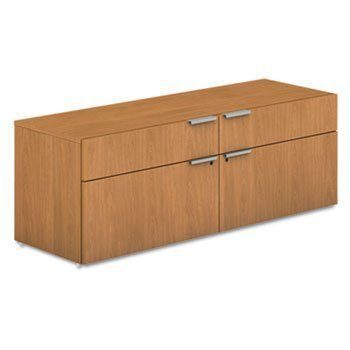 Voi Low Credenza 2 Box 2 File Drawers 60w X 20d X 21 1 2h Harvest Vcl60fc By Hon 601 15 Easy Care Laminate Resis Credenza Best Home Office Desk Drawers