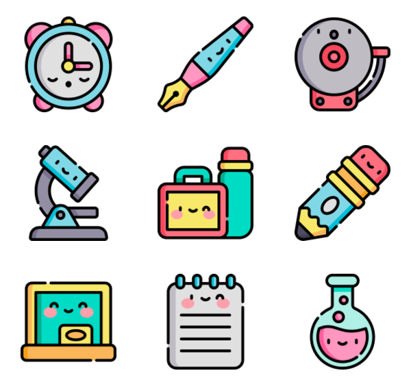 50 premium vector icons of Back to School designed by