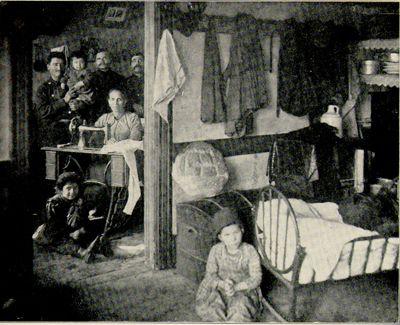 A Family In Tenement Apartment Circa 1901 Jewish