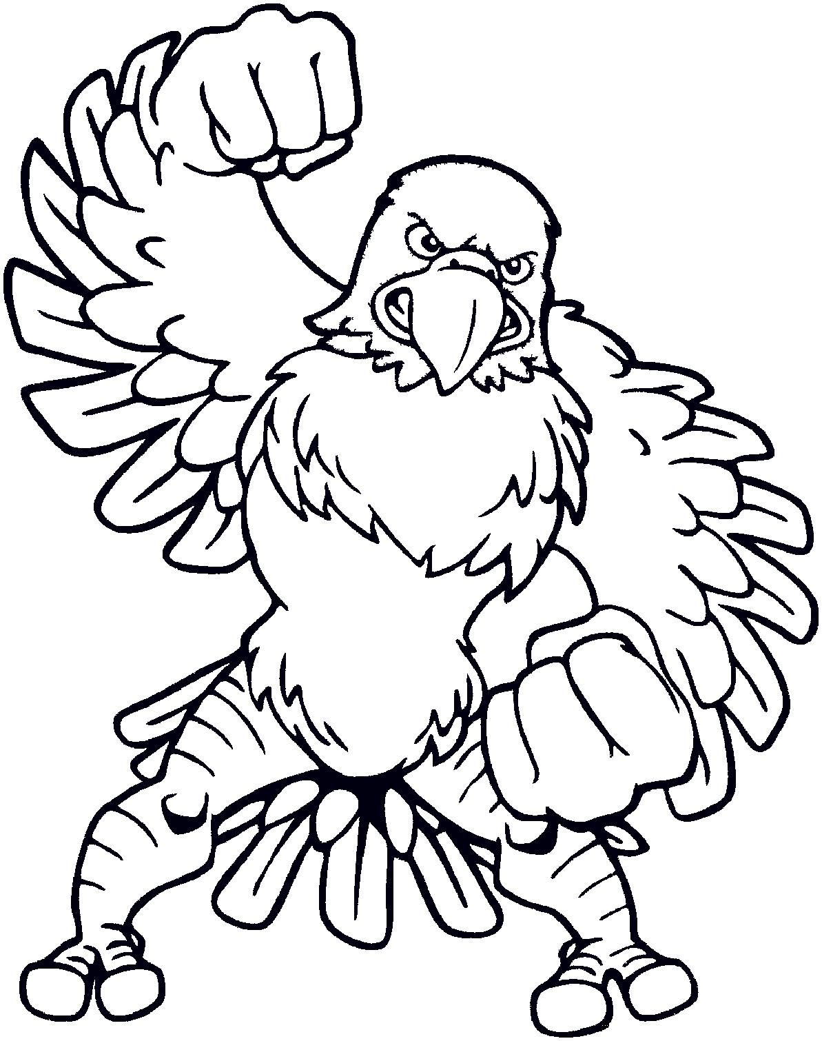 new coloring pages eagles football for you  cartoon