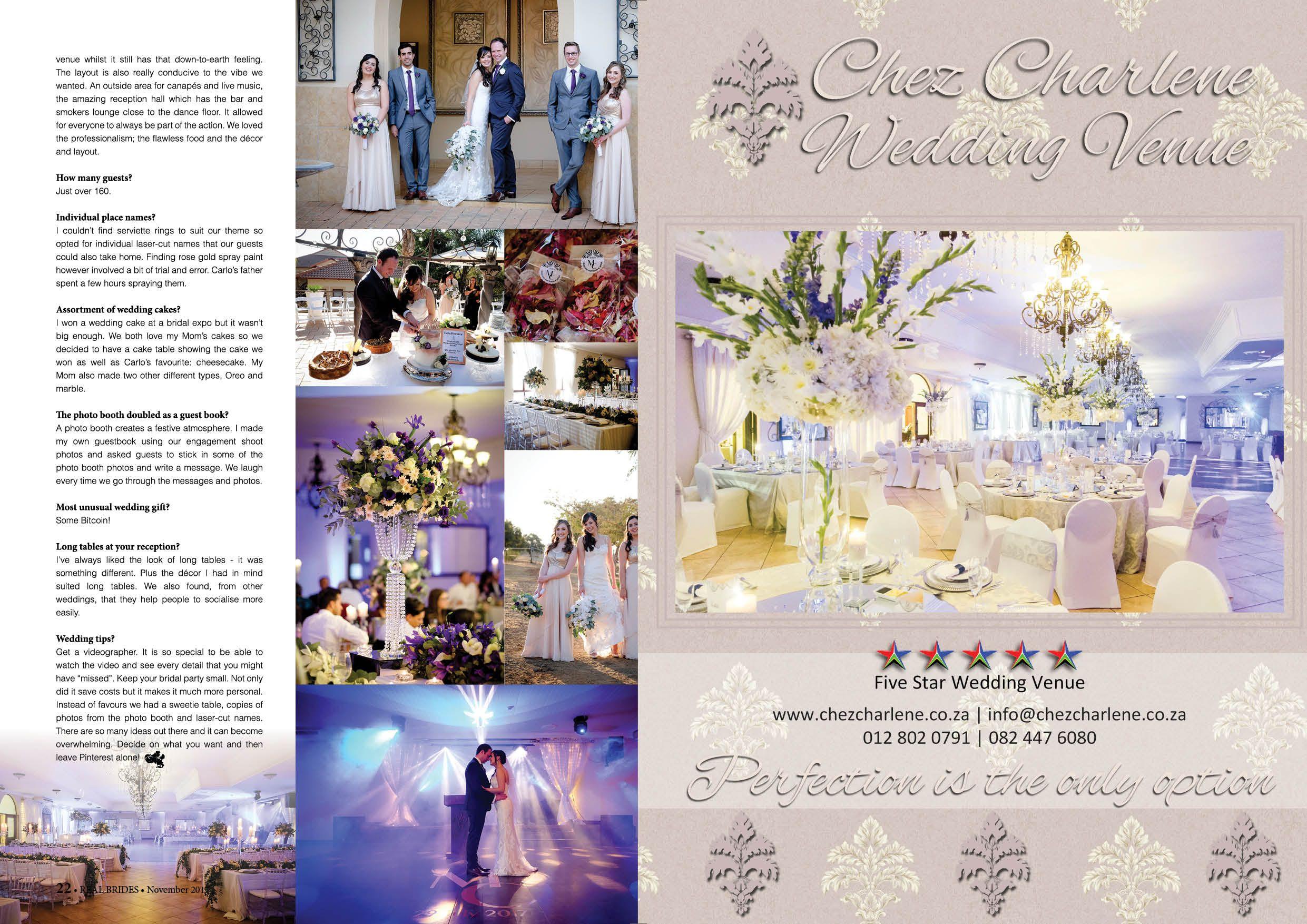 Chez Charlene 5 Star Wedding Venue, Pretoria East, Gauteng ...
