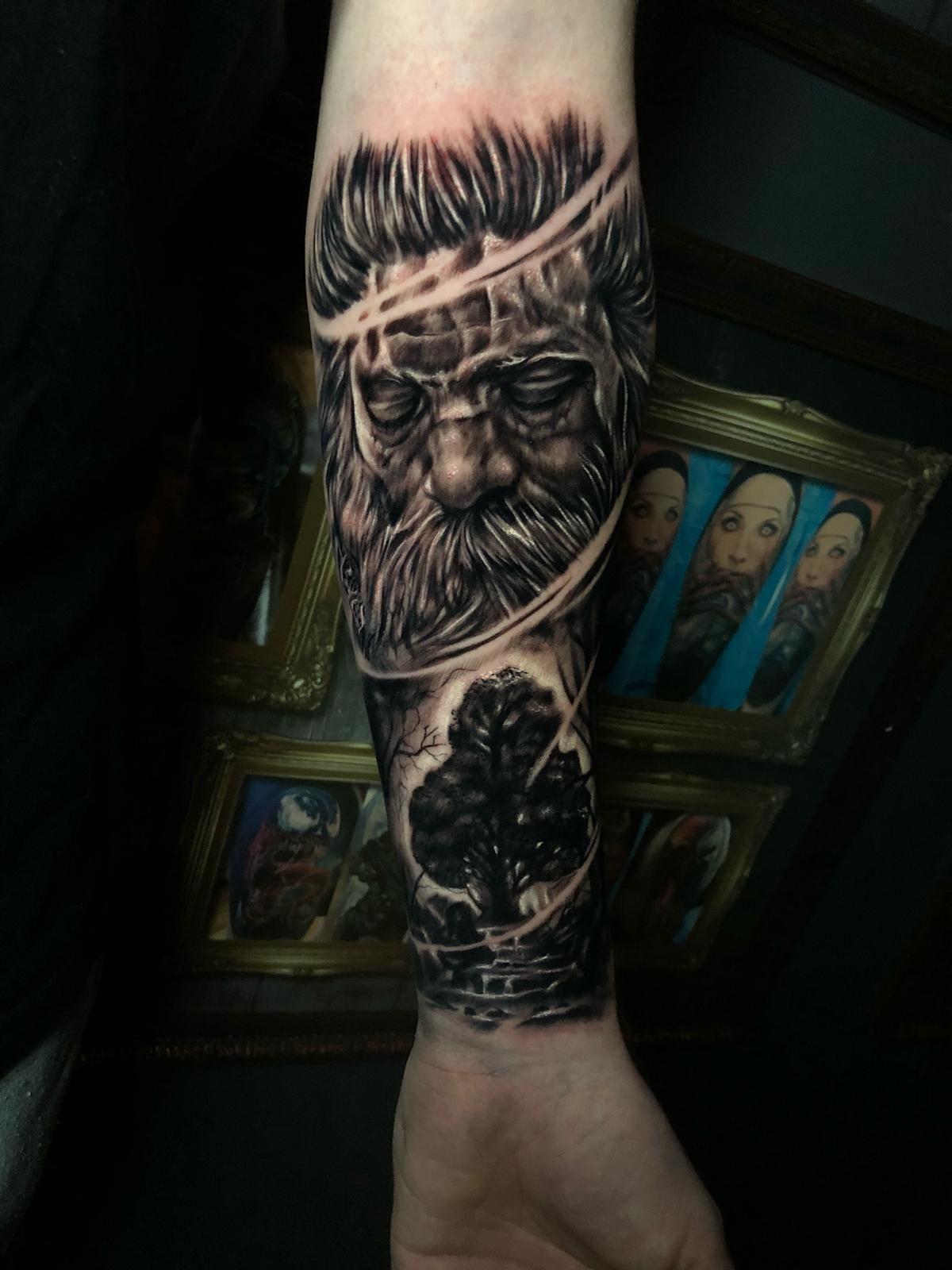 Sleeve Tattoo Holy Trinity Tattoo Trinity Tattoo Tattoo Studio