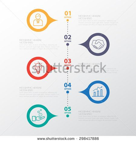 Color Step Design Clean Number Timeline TemplateGraphic Or