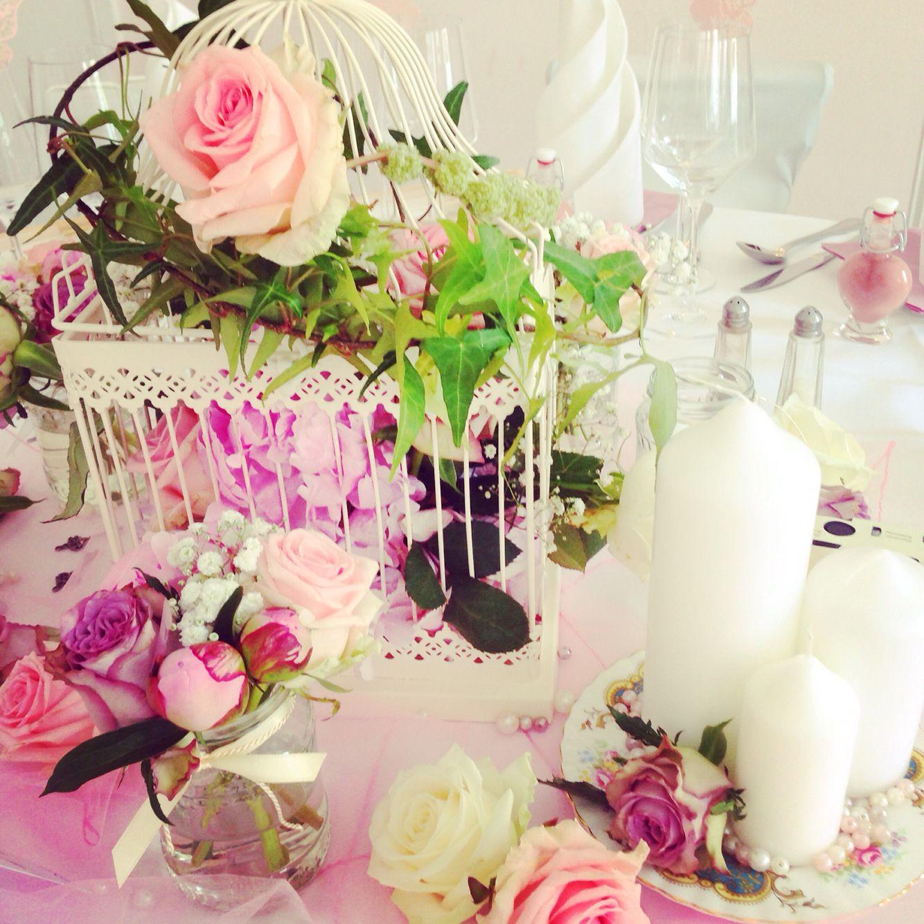 vintage hochzeitsdekoration in wei rosa princessdreams hochzeitsdeko blumendeko hochzeit. Black Bedroom Furniture Sets. Home Design Ideas