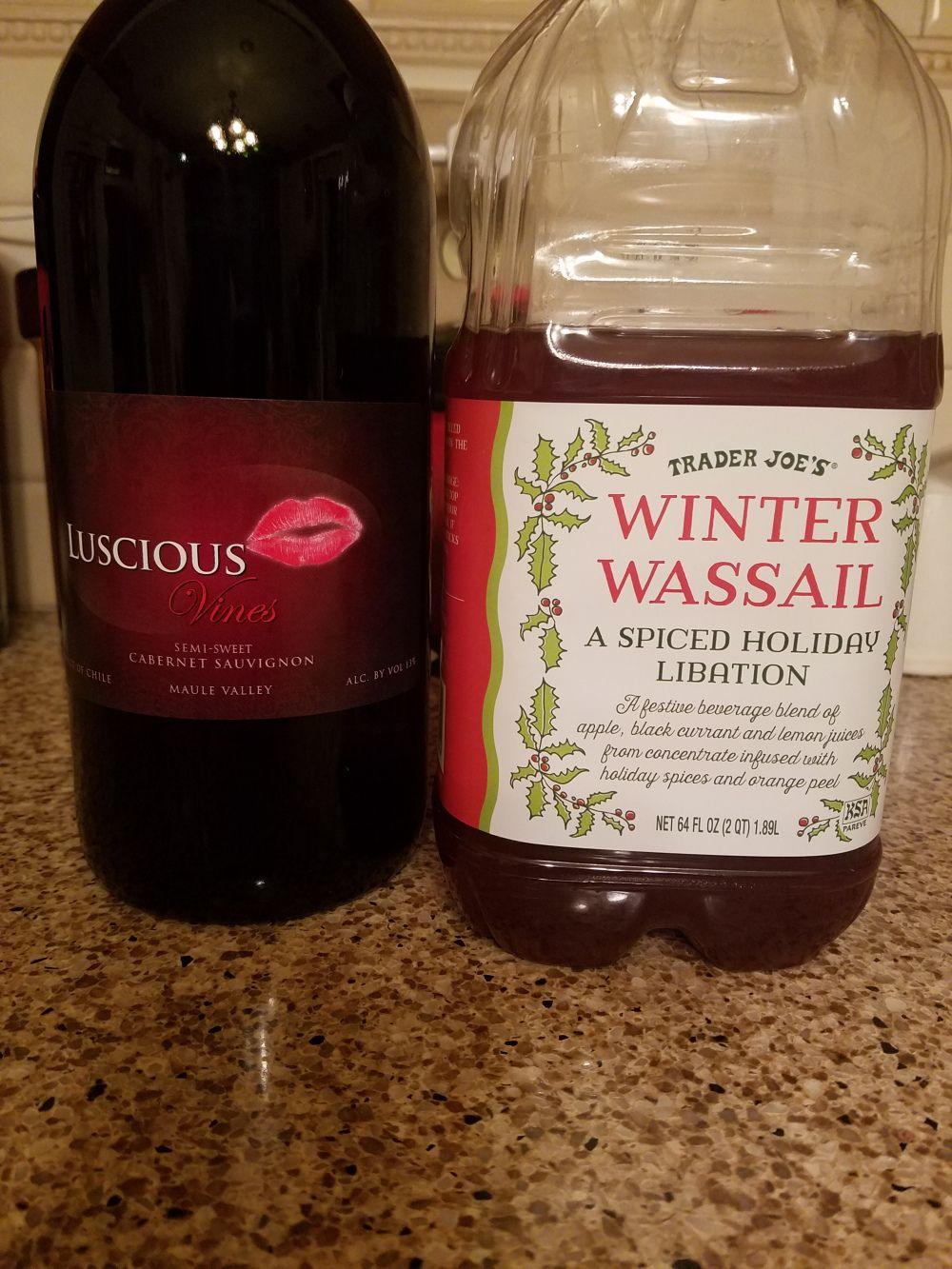 Trader Joe Wassail Mulled Wine Mulled Wine Recipe Wassail Spiced Wine