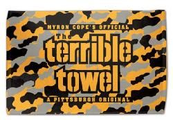 reputable site fc5a8 f891e Camo Terrible Towel, released in honor of Veterans Day ...