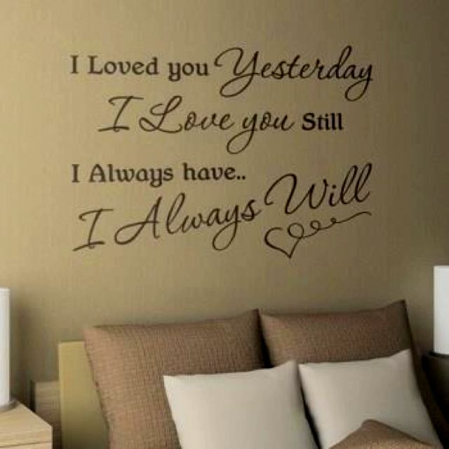 Cute For The Married Couples Bedroom Love Husband Quotes