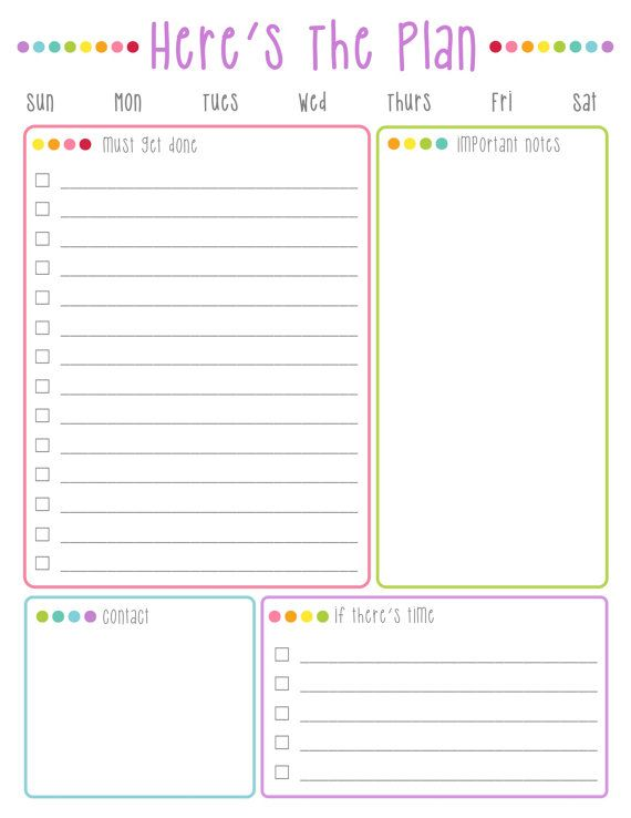 photo about Daily to Do List Printable identify Heres The Method Day-to-day Toward Do Record Printable: Colourful Dots