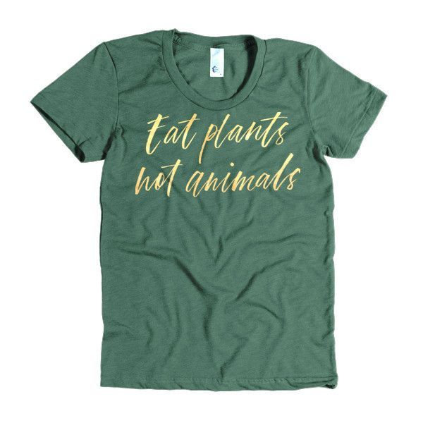 Eat Plants Not Animals Tee in gold