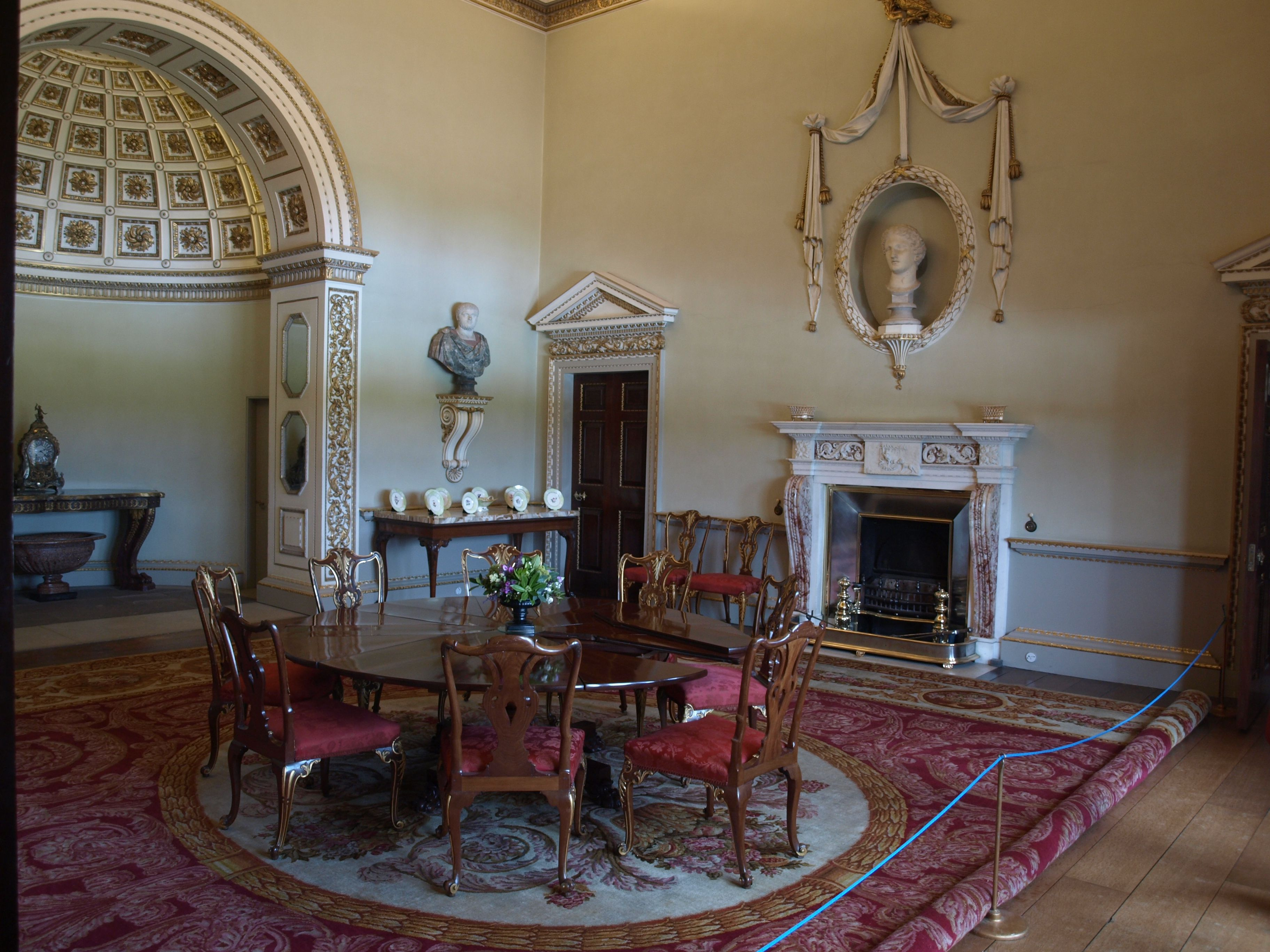 The North Dining Room Holkham Hall In Norfolk England
