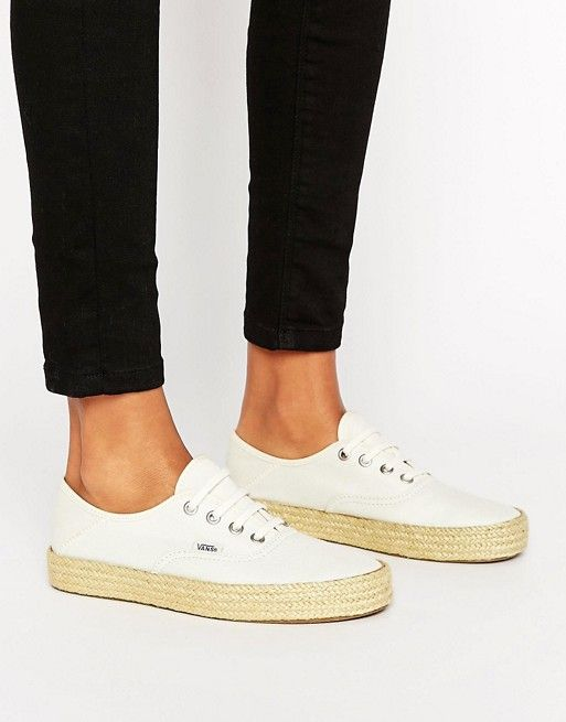 Vans Authentic Sneakers With Espadrille Sole | Lace sneakers ...