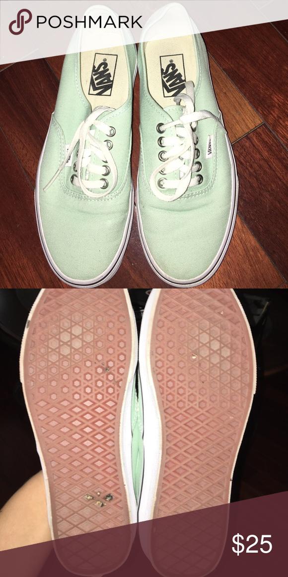 25e0bd56e8 Mint green vans Almost brand new size 8 women s 6.5 men s vans. Still have  original box Vans Shoes Sneakers