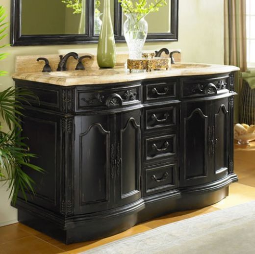 Ornate Bathroom Vanities Ornate Bathroom Vanity For Those That Love Black Ull Love Double Sink Bathroom Vanity Bathroom Sink Vanity Bathroom Vanity Remodel