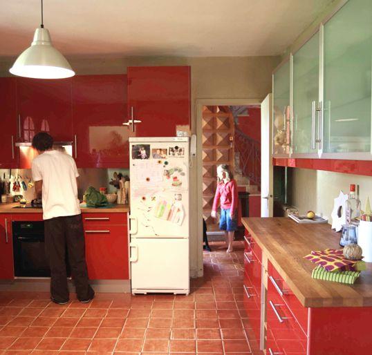 la cocina roja que siempre quise Cocinas Pinterest Cocina roja