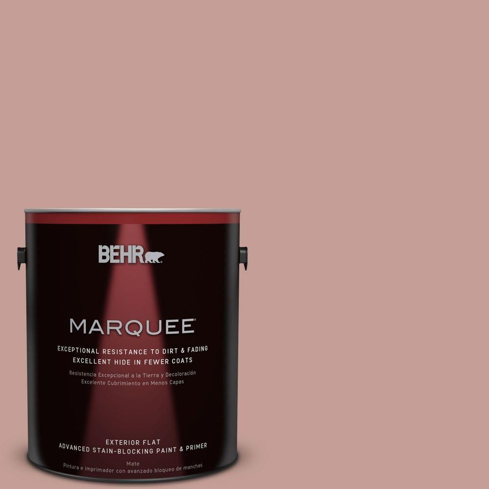 BEHR MARQUEE 5 Gal S170 4 Retro Pink Flat Exterior Paint Reds Pinks