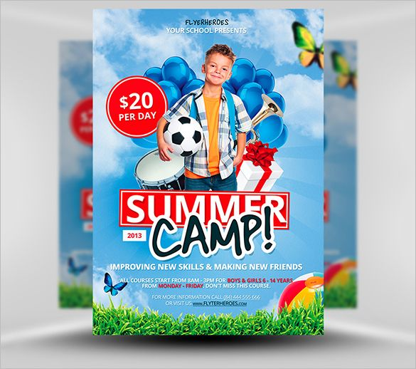 14 Best Summer Camp Flyer Templates Free Premium