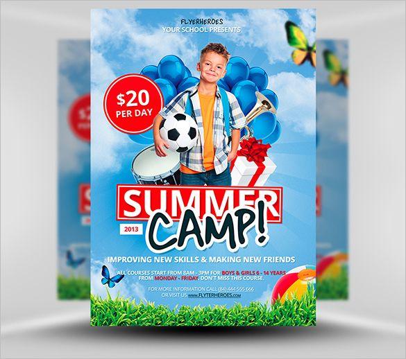14+ Best Summer Camp Flyer Templates Free \ Premium Templates - summer camp flyer template