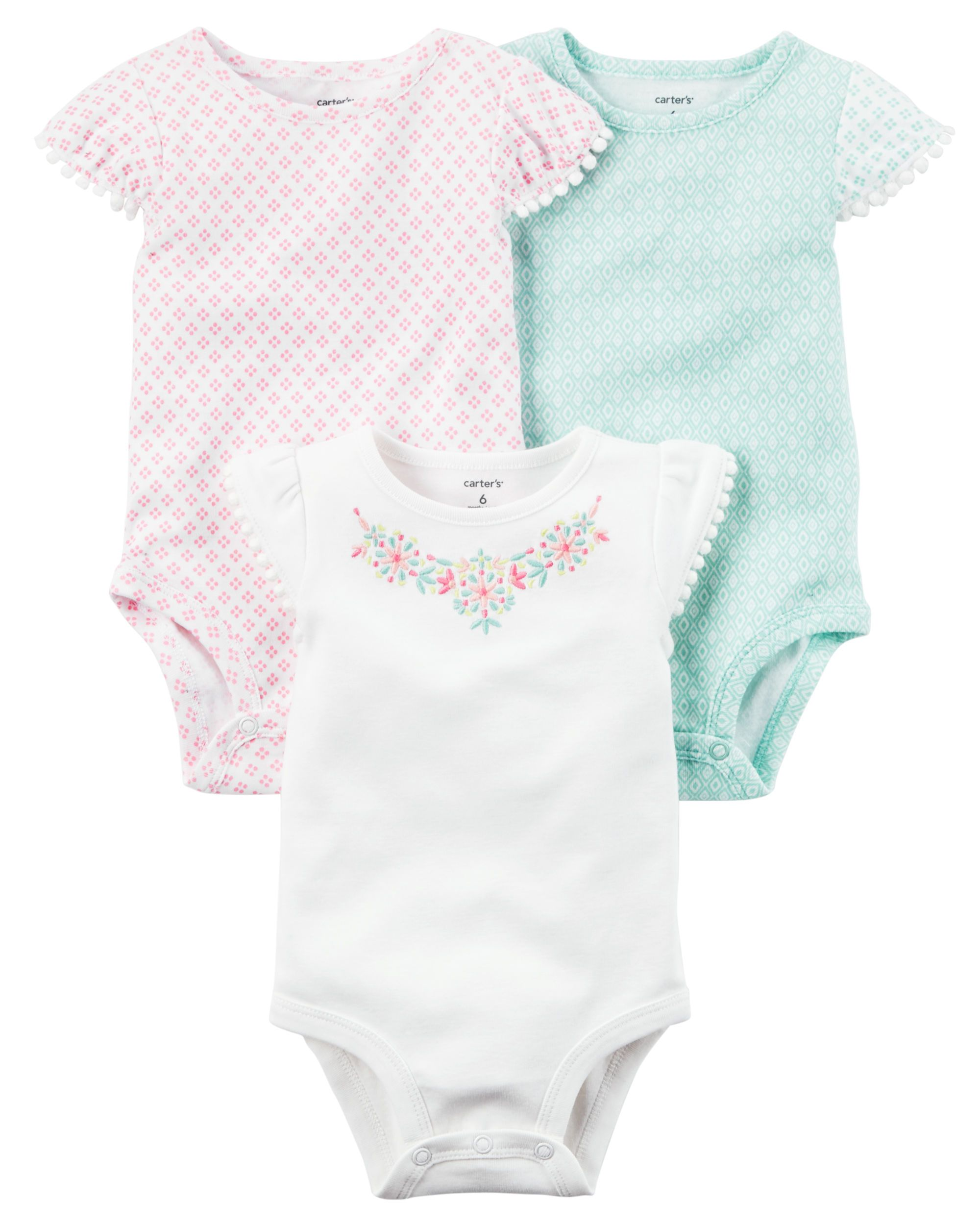 Baby Girl 3-Pack Flutter-Sleeve Original Bodysuits from Carters.com. Shop clothing & accessories from a trusted name in kids, toddlers, and baby clothes.