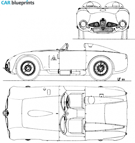 1948 alfa romeo 6c 3000 targa blueprint transportation silhouettes alfa romeo 3000 blueprints vector drawings clipart and pdf templates malvernweather Image collections
