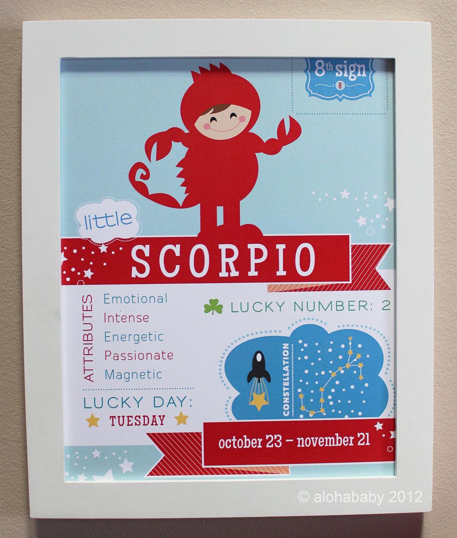 Scorpio Baby Zodiac. 12.00, via Etsy. DORABLE! Идеи