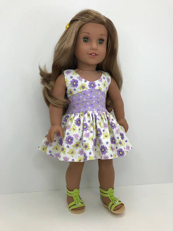 18 pulgadas 18 muñeca bonita ropa púrpura flores | Muñecas ...