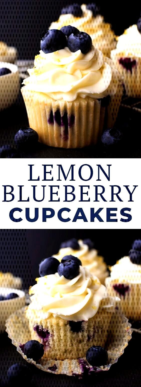 Love lemon desserts? These easy lemon blueberry cupcakes made with Simple Truth organic butter and
