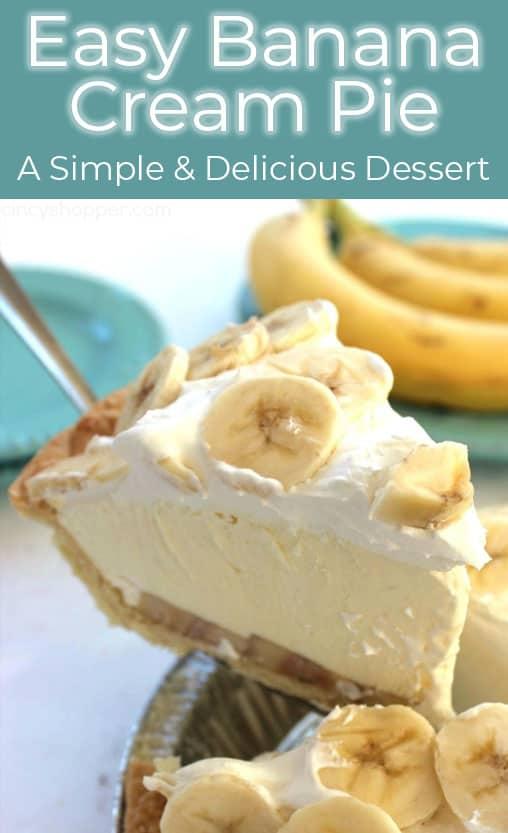 Easy Banana Cream Pie Recipe In 2020 Easy Banana Cream Pie Banana Cream Pie Yummy Desserts Easy
