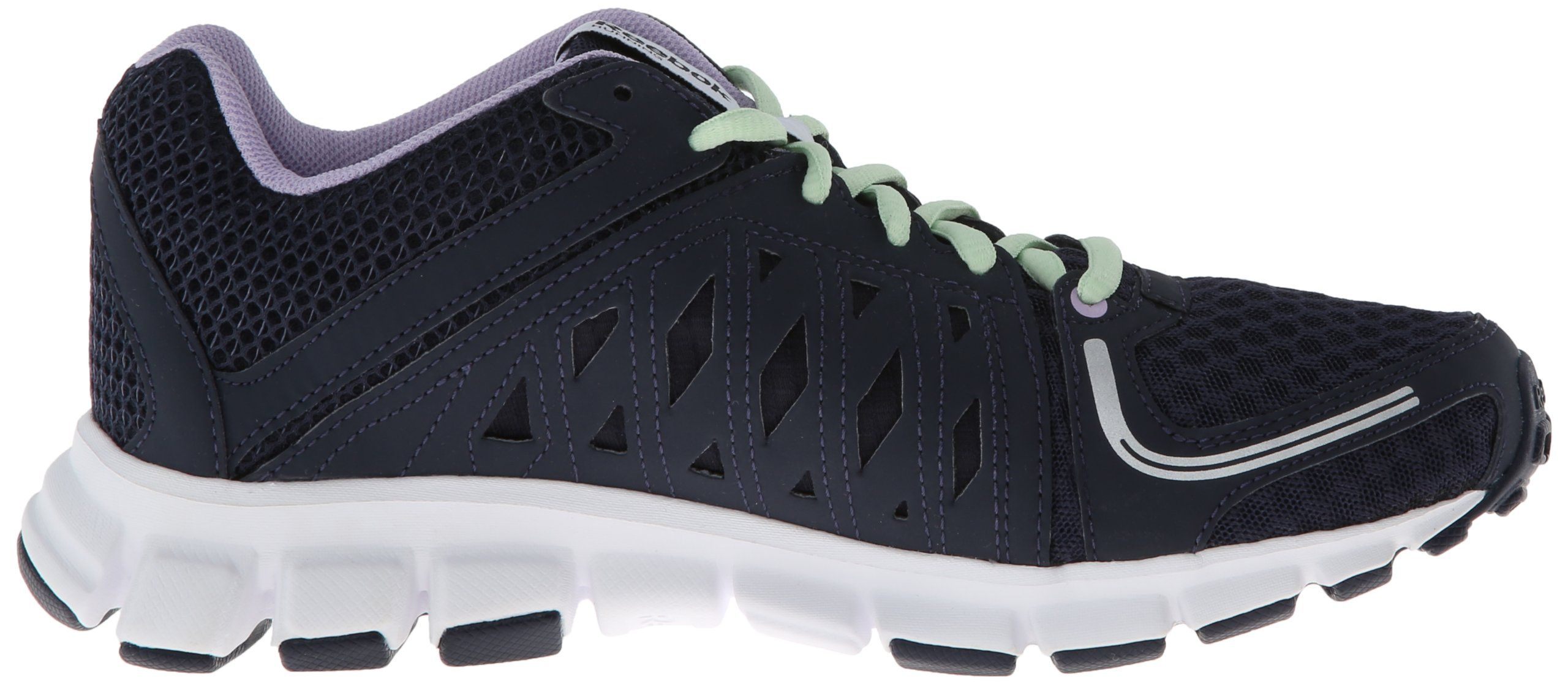 a5846e5d1218 Reebok Womens Smoothflex Flyer Running ShoeAthletic Navy Purple Oasis Sea  Glass Pure Silver White8.5 M US     Continue to the product at the image  link.