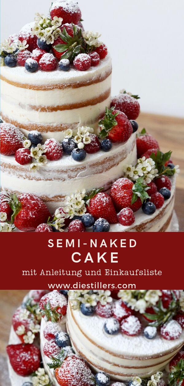 Semi-Naked Cake mit Anleitung
