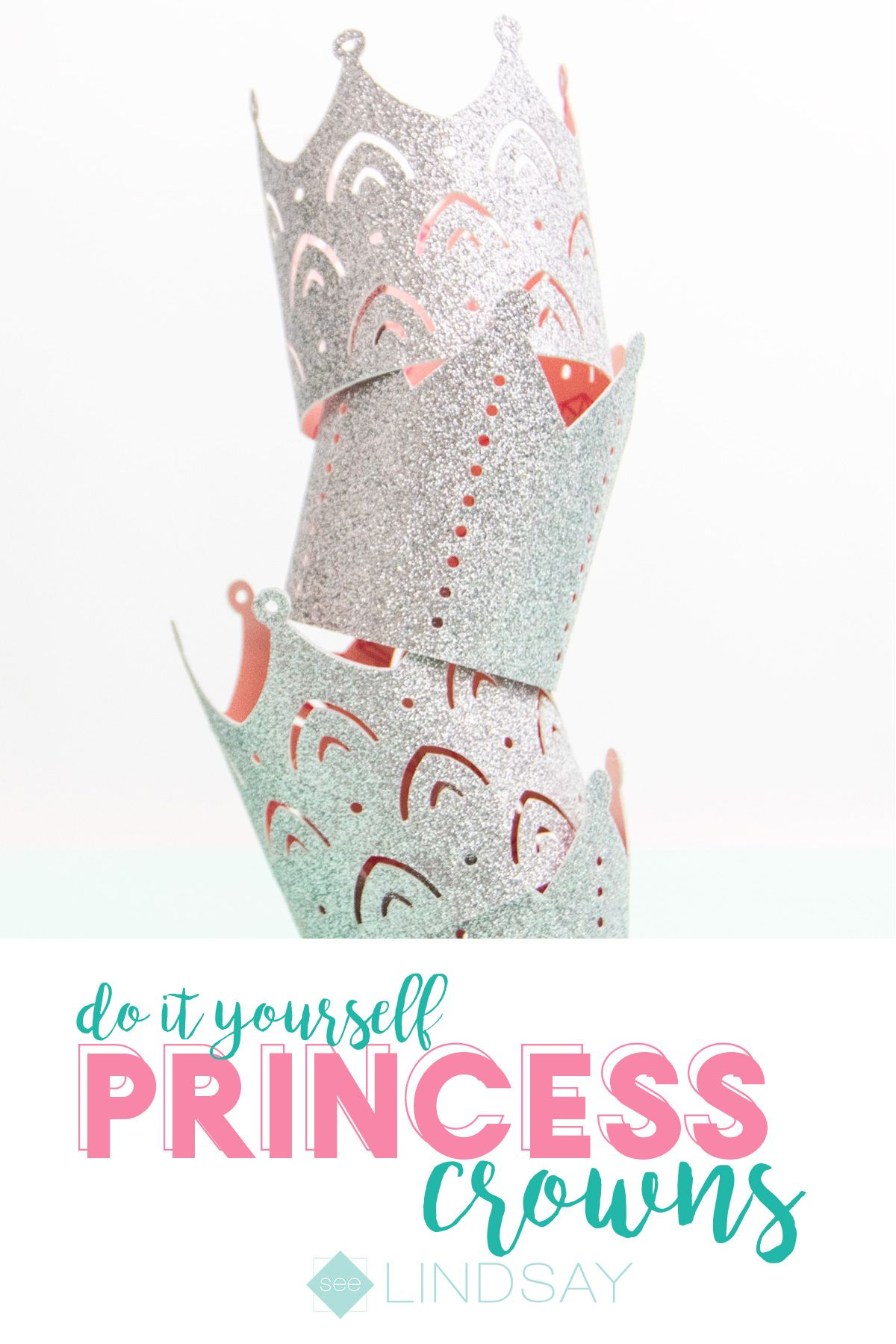 Create The Perfect Princess Party Crowns By Using Glitter Cardstock And Coordinating Patterned Paper Get All The Princess Diy Crown For Kids Cardstock Crafts