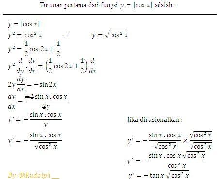 Soal Dan Pembahasan Turunan Fungsi Trigonometri Harga Mutlak Trigonometri Jenis