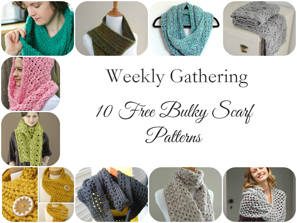 Weekly Gathering: 10 Free Bulky Scarf Patterns! | Hilo